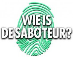 Wie is de saboteur